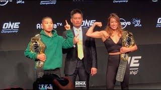 Angela Lee vs. Jing Nan Xiong ONE Championship: A New Era Press Conference Staredown- MMA Fighting