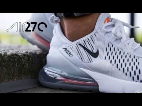 new style 99cfd 4b287 NIKE Air Max 270 Mens AH8050 106 White Orange - YouTube