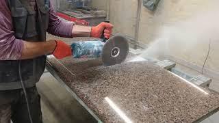 як зробити отвір в гранітній плиті