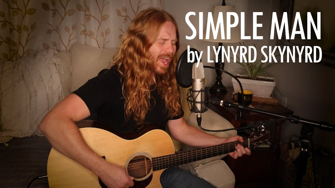 """Simple Man"" by Lynyrd Skynyrd - Adam Pearce (Acoustic Cover)"