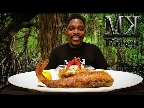Seafood Mukbang | Whole Fried Catfish | Crawfish Shrimp Etouffee | SHOUT OUTS | MKBites