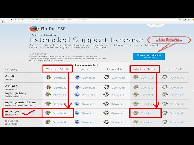 Download and Install Mozilla Firefox ESR for Run Your java Applet