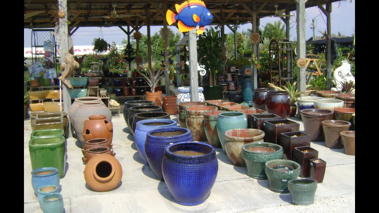 ceramic garden pots i large ceramic pots outdoors  youtube -
