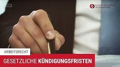 Gesetzliche Kündigungsfristen für Arbeitnehmer und Arbeitgeber – Kanzlei Hasselbach
