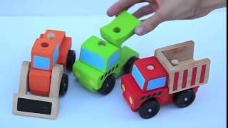 Melissa And Doug Construction Trucks Wooden Toys