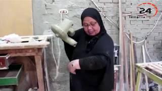 هند الشربيني .. اول سيدة مصرية تعمل في مهنة النجارة