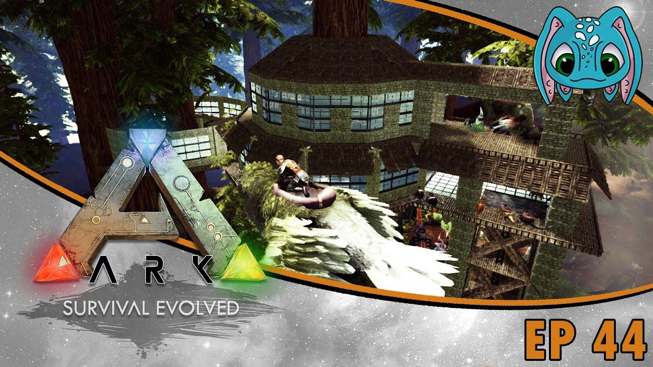 Elegant ARK: Survival Evolved   S2 Ep44   New Roofing Design!!!   YouTube