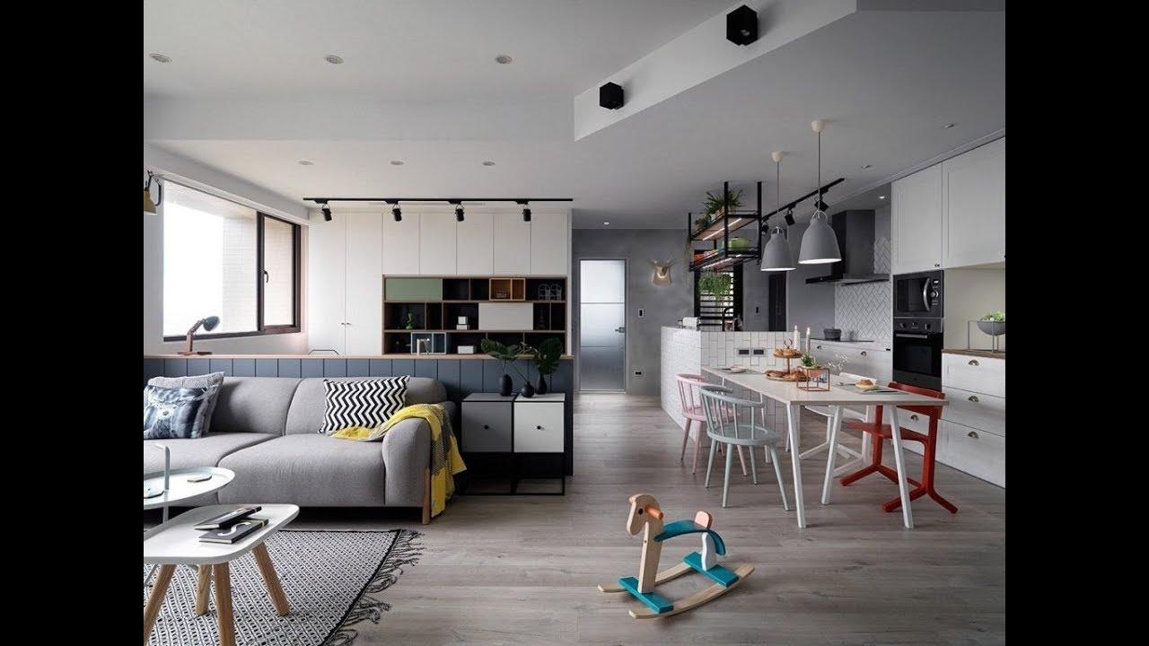 кухня гостиная в скандинавском стиле Youtube