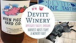 Devitt Winery ~ Harvest Hosts Stay in The Applegate Valley Wine Region in Oregon!