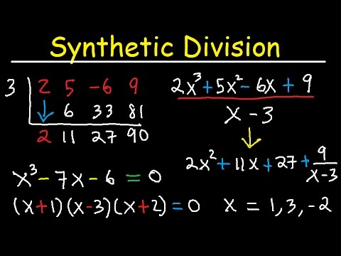 Synthetic Division And Remainder Theorem, Factoring Polynomials, Find Zeros, With Fractions, Algebra