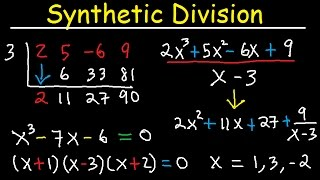 Synthetic Division And Remainder Theorem, Factoring Polynomials, Find Zeros, Wit