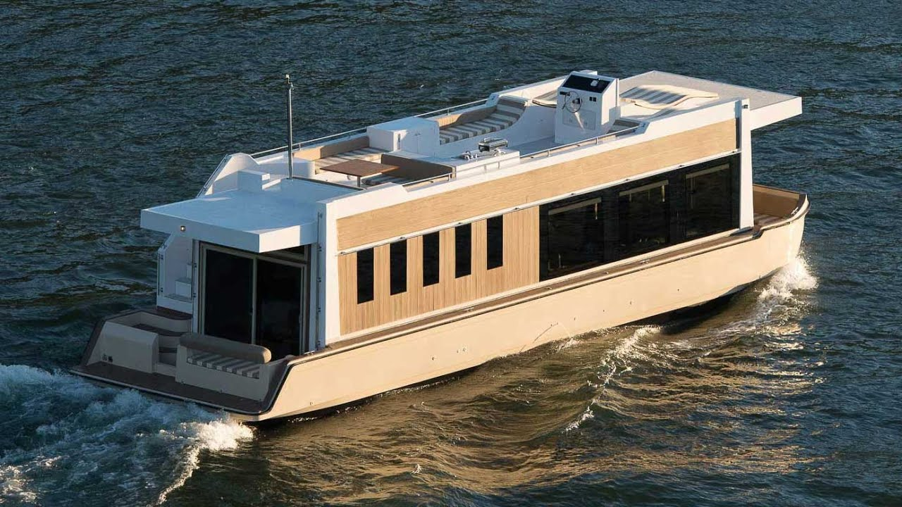 Crossover Houseboat An Evolution In Yachting Youtube