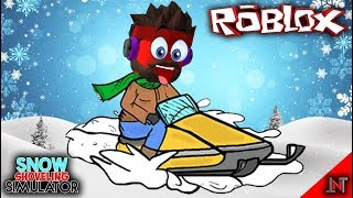ROBLOX indonesia #83 Snow Shoveling Simulator | Update Ice Mountain Dengan Motor Salju Baru