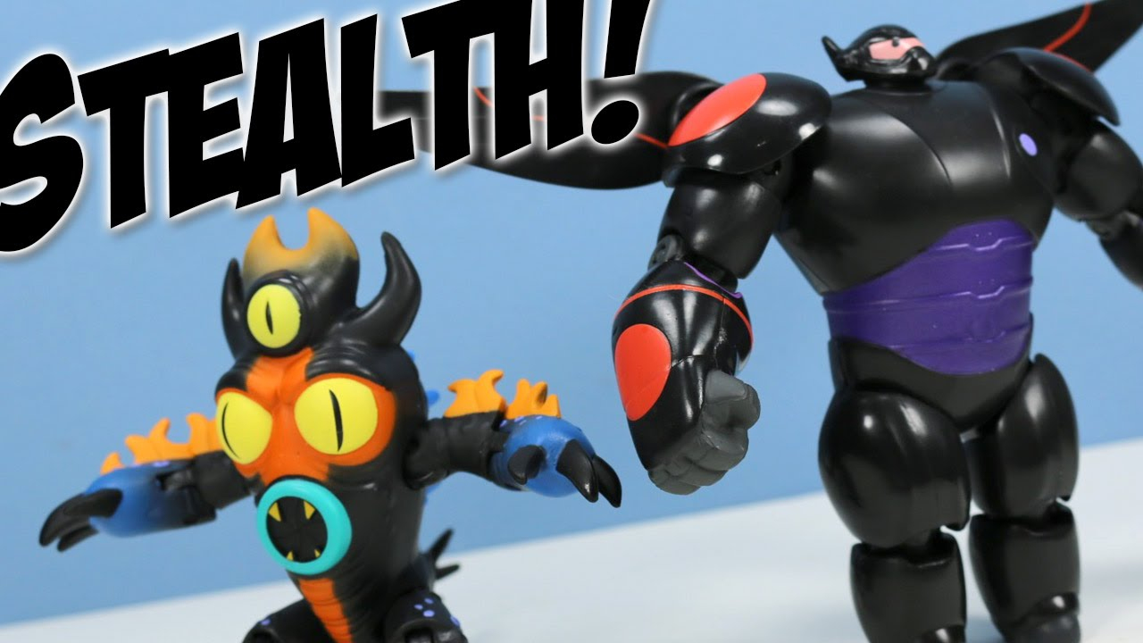 Big Hero 6 Stealth Collection Baymax Action Figures Ban Dai Youtube