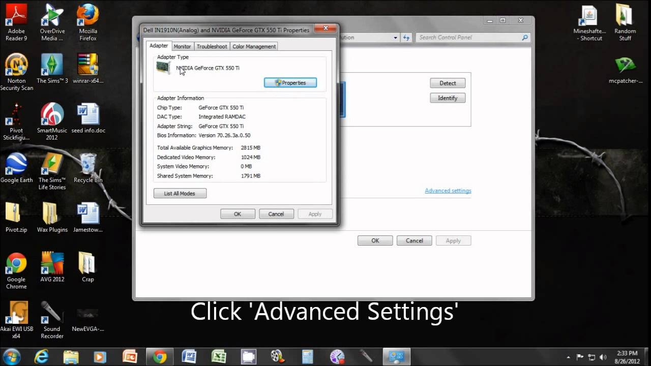 How to check your computer's video memory