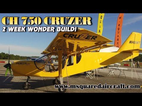 CH 750 Cruzer, 2 week wonder aircraft build, MSquared Aircraft, St. Elmo, Alabama.