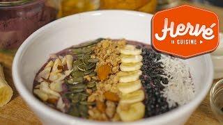 Recette Brésil : Bol d'Acai (Acai Bowl) plein d'énergie et antioxydants