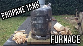 Wood Stove Made From A Propane Tank! | Workshop Satisfaction