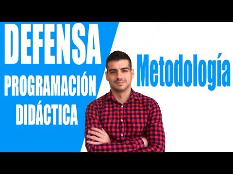 7. METODOLOGÍA. Defensa Programación Didáctica Oposiciones