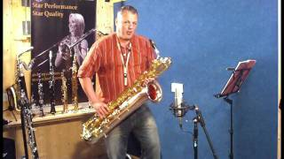 JP144 baritone saxophone demonstration by Pete Long - John Packer Ltd