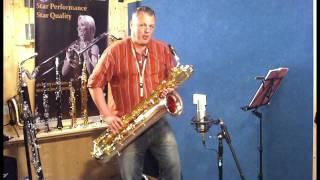 JP144 baritone saxophone demonstration by Pete Long - John Packer Ltd