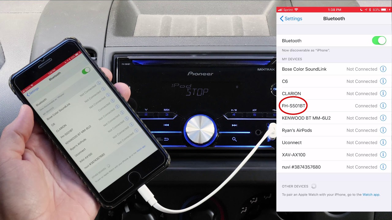 hight resolution of pioneer fh s501bt radio review