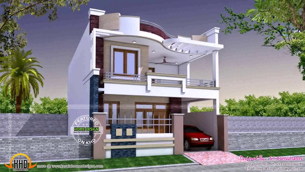 Indian Small House Elevation Front Design Youtube