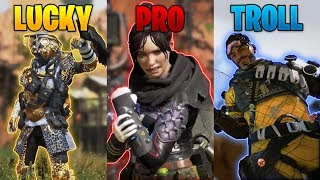 LUCKY vs PRO vs TROLL - NEW Apex Legends Funny Epic Moments #90