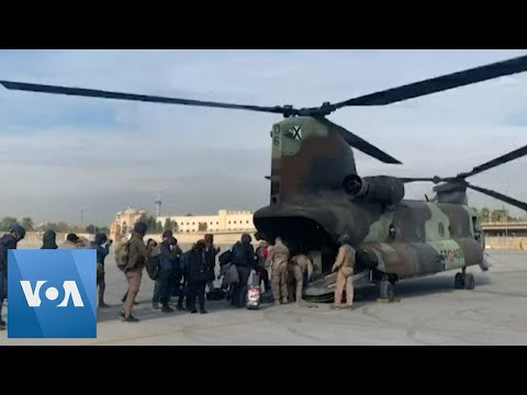 US Soldiers and Journalists Arrive to Al Asad Air Base in Iraq By Helicopter