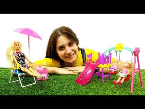 Club Chelsea: Parco giochi di Barbie Con Sdraio Per Piscina Per Prendere Il sole In Vero Relax