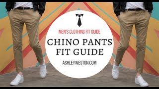 Chino & Khaki Pants Fit Guide - Men