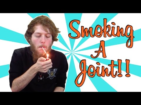 SMOKING A JOINT!!