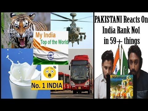 Pakistani Reacts to India Rank No1 in 59+ things - AA Reactions