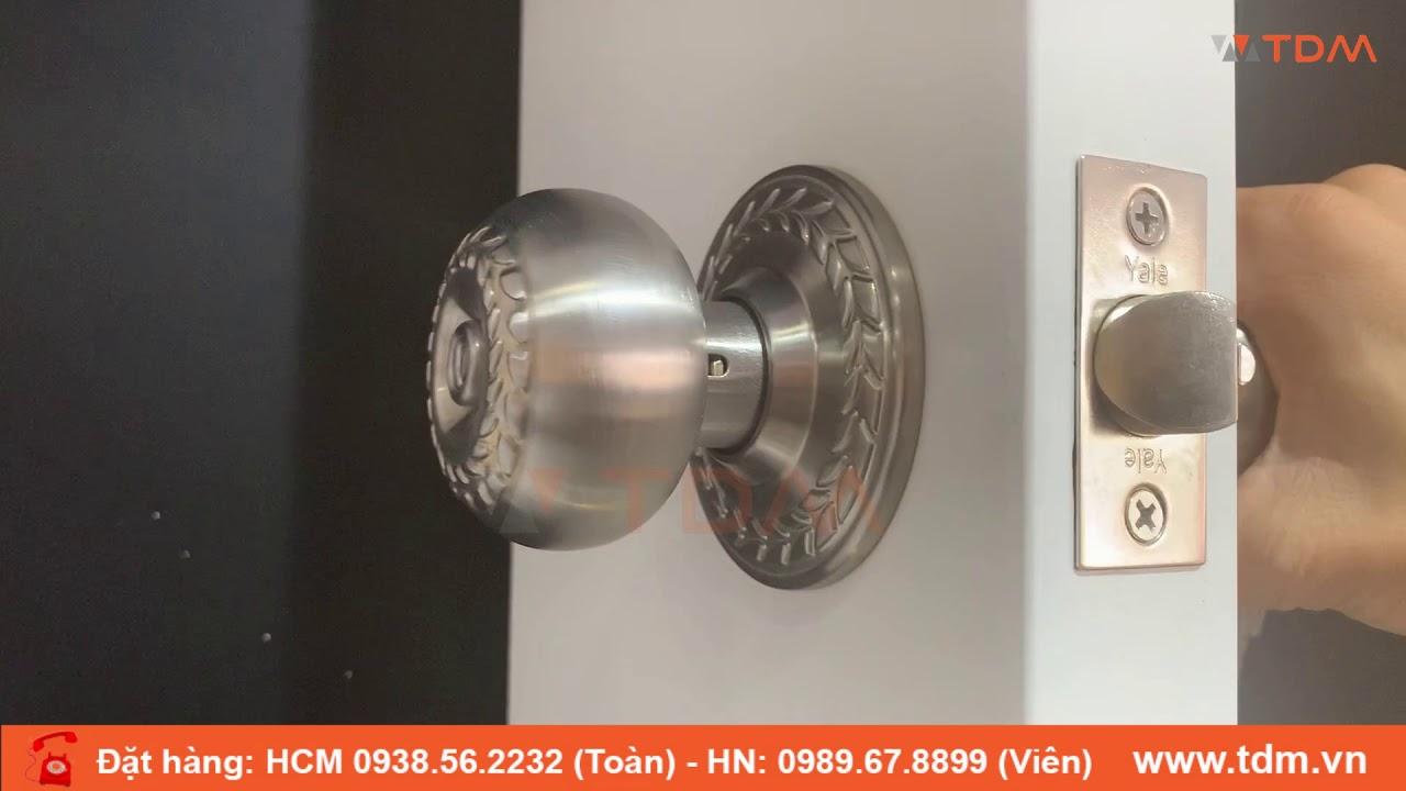 TDM.VN   Review khóa Yale VEM5247 US32D khóa tay nắm tròn khóa cửa phòng màu bạc inox 304