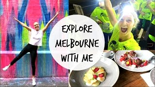 MELBOURNE VLOG | WINGS FOR LIFE RUN, FOOD PORN, ESCAPING A ROOM?!