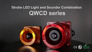 Qlight LED Strobe Signal Light and Electric Horn Combinations, QWCD Series