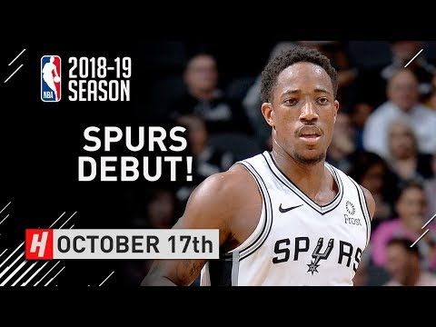 DeMar DeRozan Official Spurs Debut Full Highlights vs Timberwolves 2018.10.17 - 28 Pts, CLUTCH!
