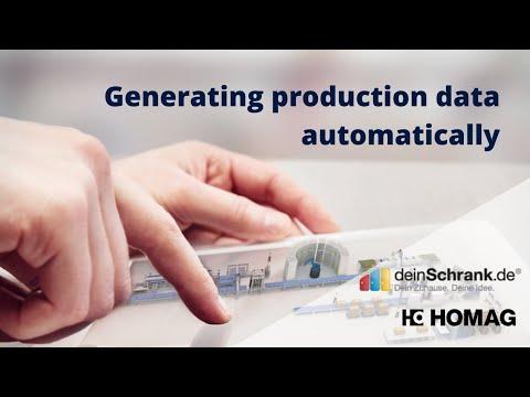 Generating automatic production data at B2C furniture manufacturer DeinSchrank.de – HOMAG Software