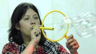 СЕКРЕТЫ ШОУ МЫЛЬНЫХ ПУЗЫРЕЙ цветные трубочки для трюков 10 трюков одной ракеткой