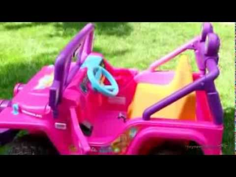 Fisher Price® Barbie Jammin' Jeep Wrangler Battery Powered Riding Toy - Product Review Video