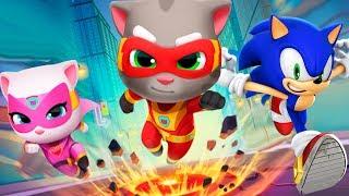 ГОВОРЯЩИЙ КОТ ТОМ ПОГОНЯ ГЕРОЕВ VS Sonic Dash #1