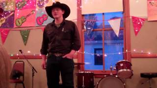 Flint Adams singing Bury Me Not (cowboys lament)
