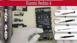 How to disassemble 📱 Xiaomi Redmi 4 Take apart Tutorial