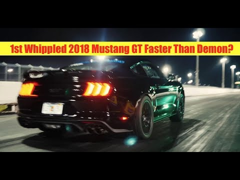 Exclusive First 2018 Mustang GT Whipple Crushes 1/4 Mile