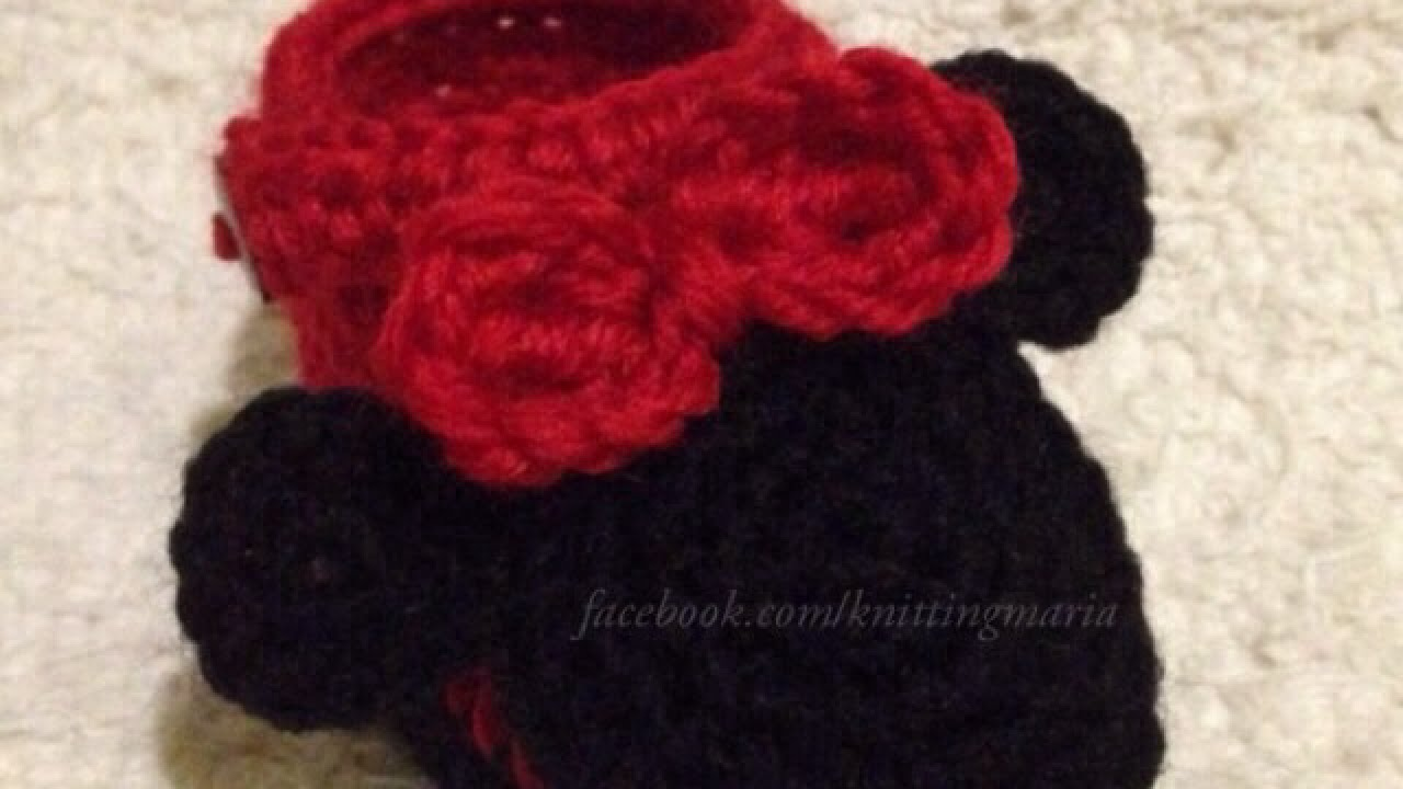 How To Make Adorable Crocheted Minnie Mouse Booties - DIY Crafts ...