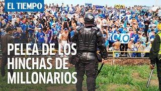 Violencia entre hinchas de Millonarios y Policía en Villavicencio | EL TIEMPO thumbnail