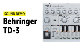 Behringer TD-3 Sound Demo (no talking) with Source Audio Ventris
