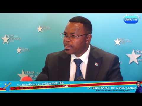 CONFERENCE DE PRESSE BRUXELLES: QUESTIONS ET RÉPONSES AVEC Le Dr Donat MUPAPA KIBADI