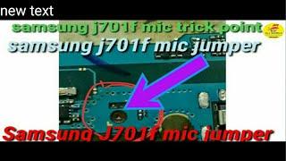 Samsung j701f  j7 nxt  mic trick jumper solution