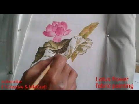 Fabric painting lotus flower design how to paint on cloth flower fabric painting lotus flower design how to paint on cloth flower motif cara melukis bunga teratai mightylinksfo